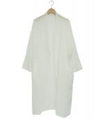 nagonstans(ナゴンスタンス)の古着「コットンロングカーディガン」|ホワイト