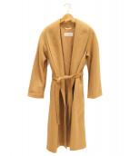 MaxMara(マックスマーラ)の古着「ベルテッドコート」|キャメル