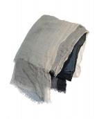 Faliero Sarti(ファリエロサルティ)の古着「シルク混ストール」|ネイビー×ホワイト