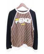 FENDI(フェンディ)の古着「ズッカロゴスウェット」|ブラウン