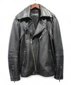 Karl Lagerfeld(カール ラガーフェルド)の古着「ダブルライダースジャケット」|ブラック