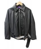 Ys(ワイズ)の古着「ライダースジャケット」|ブラック