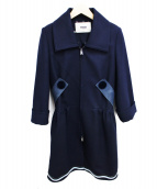 FENDI(フェンディ)の古着「カシミヤ混コート」|ネイビー