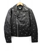 JUNYA WATANABE CDG(ジュンヤワタナベ コムデギャルソン)の古着「AD2015/スタッズライダースジャケット」|ブラック