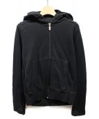 lucien pellat-finet(ルシアンペラフィネ)の古着「ジップパーカー」 ブラック
