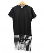 BLACK COMME des GARCONS(ブラックコムデギャルソン)の古着「Tシャツワンピース」 ブラック