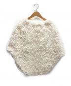 Christian Dior()の古着「ラムファーポンチョ」 ホワイト