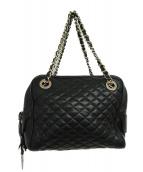 D&G(ディーアンドジー)の古着「キルティングチェーンバッグ」|ブラック