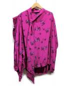 BALENCIAGA(バレンシアガ)の古着「デザインシャツ」|ピンク