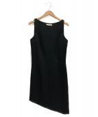Saint Laurent Paris(サンローランパリ)の古着「スリーブレスミニドレスワンピース」|ブラック