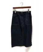 JIL SANDER NAVY(ジルサンダーネイビー)の古着「デニムスカート」|インディゴ