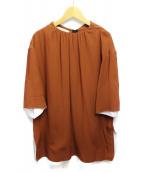 MARNI(マルニ)の古着「ノーカラーブラウス」|ブラウン