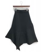ENFOLD(エンフォルド)の古着「ニットスカート」|ブラック