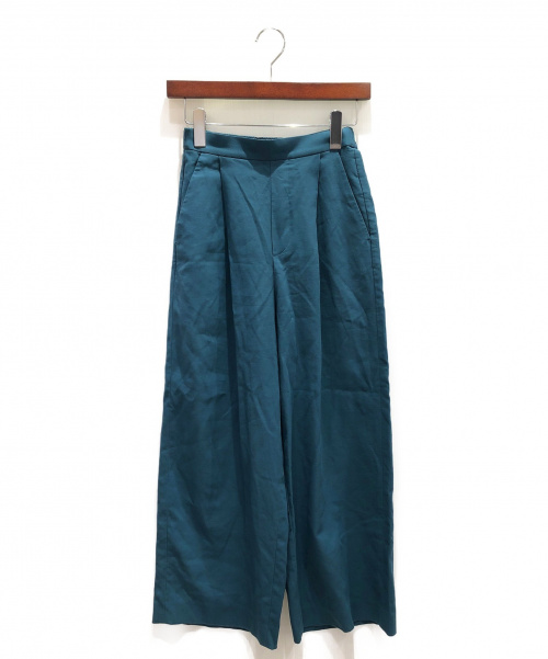 ENFOLD(エンフォルド)ENFOLD (エンフォルド) ワイドパンツ エメラルドグリーン サイズ:34の古着・服飾アイテム