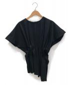 ENFOLD(エンフォルド)の古着「2019SS/タックデザインプルオーバー」|ブラック