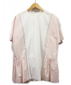 MARNI(マルニ)の古着「19SS プルオーバーブラウス」|ホワイト×ピンク