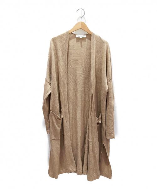 ENFOLD(エンフォルド)ENFOLD (エンフォルド) リネンロングカーディガン カーキ サイズ:38 リネン100%の古着・服飾アイテム