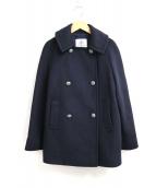 OLD ENGLAND(オールドイングランド)の古着「メタルボタンメルトンPコート」|ネイビー