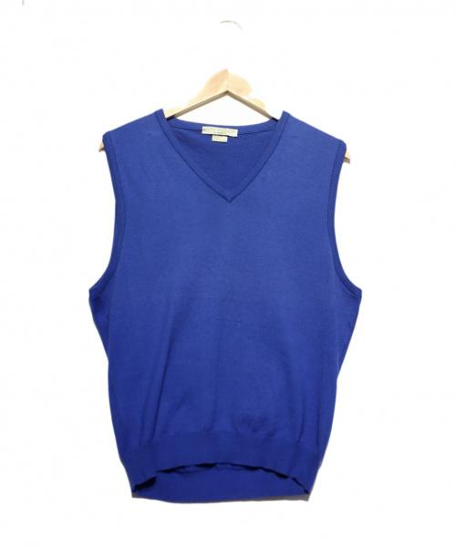 JOHN SMEDLEY(ジョンスメドレ)JOHN SMEDLEY (ジョンスメドレ) ベスト ブルー サイズ:S 春秋物の古着・服飾アイテム