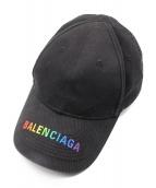 BALENCIAGA(バレンシアガ)の古着「19AW/レインボーロゴキャップ」|ブラック