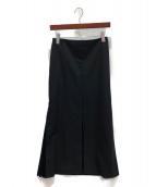 ADEAM(アディアム)の古着「サイドプリーツロングスカート」|ブラック