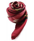 LOEWE(ロエベ)の古着「フラワープリントスカーフ」|バイオレット