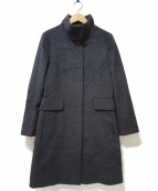MaxMara(マックスマーラ)の古着「スタンドカラーコート」|グレー