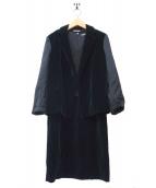 BOTTEGA VENETA(ボッテガヴェネタ)の古着「ベロアセットアップ」|ブラック