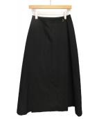 YOHJI YAMAMOYO(ヨウジ ヤマモト)の古着「ラップスカート」|ブラック
