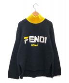 FENDI×FILA(フェンディ×フィラ)の古着「モヘヤ混ロゴニット」|ブラック