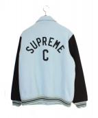 Supreme(シュプリーム)の古着「13AW CAPTAIN VARSITY JKT」|ブラック×スカイブルー