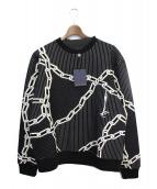 LOUIS VUITTON(ルイヴィトン)の古着「キルテッド3Dエフェクトチェーンスウェットシャツ」|ブラック