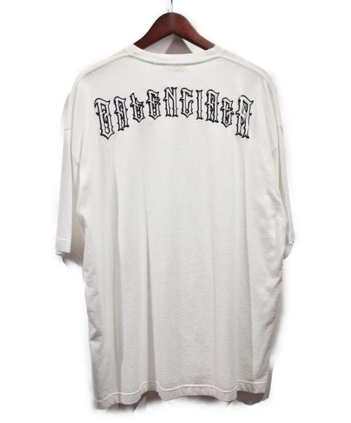 BALENCIAGA(バレンシアガ)BALENCIAGA (バレンシアガ) ロゴ刺繍Tシャツ ホワイト サイズ:Mの古着・服飾アイテム
