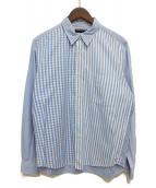 COMME des GARCONS HOMME(コムデギャルソンオム)の古着「チェックシャツ」|スカイブルー