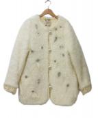 MUVEIL(ミュベール)の古着「フェイクファージャケット」|アイボリー