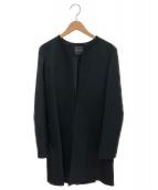 YOKO CHAN(ヨーコチャン)の古着「ノーカラーコート」|ブラック