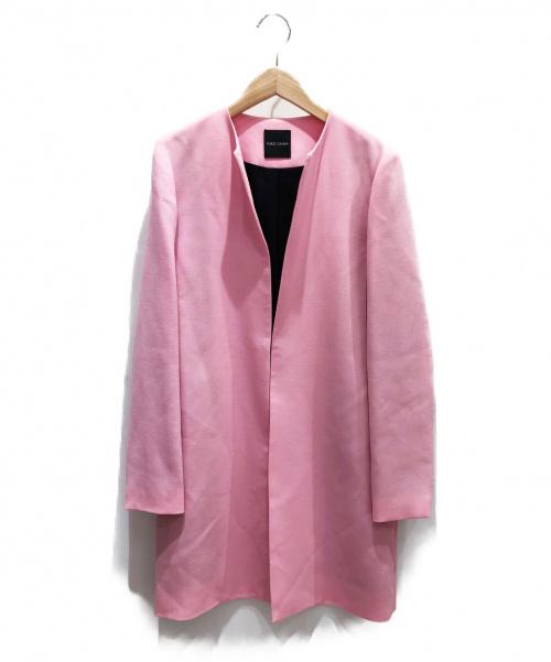 YOKO CHAN(ヨーコチャン)YOKO CHAN (ヨーコチャン) ノーカラーコート ピンク サイズ:36の古着・服飾アイテム