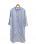 Bagutta(バグッタ)の古着「リネンシャツワンピース」|ブルー