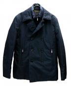 MOORER(ムーレー)の古着「ショート丈ダウンPコート」 ネイビー