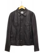EMMETI(エンメティ)の古着「レザージャケット」 ブラック