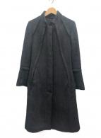 GUCCI(グッチ)の古着「スタンドカラーコート」|ブラック