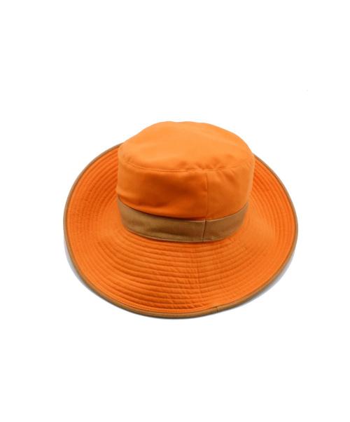 HERMES(エルメス)HERMES (エルメス) H刺繍ハット オレンジ サイズ:57の古着・服飾アイテム
