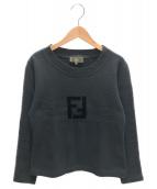 FENDI(フェンディ)の古着「ロゴスウェット」|ブラック