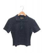 FENDI(フェンディ)の古着「ニットポロシャツ」|ネイビー