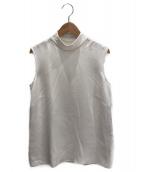 ADEAM(アディアム)の古着「ノースリーブブラウス」|オフホワイト