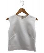ADEAM(アディアム)の古着「ノースリーブブラウス」|ホワイト