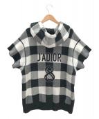 Christian Dior(クリスチャンディオール)の古着「JADIOR8ニットパーカー」|ホワイト×ブラック