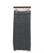 BLAMINK(ブラミンク)の古着「ニットスカート」|グレー