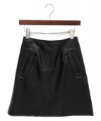 ADEAM(アディアム)の古着「レザースカート」|ブラック