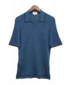 HERMES(エルメス)の古着「ニットポロシャツ」|ブルー